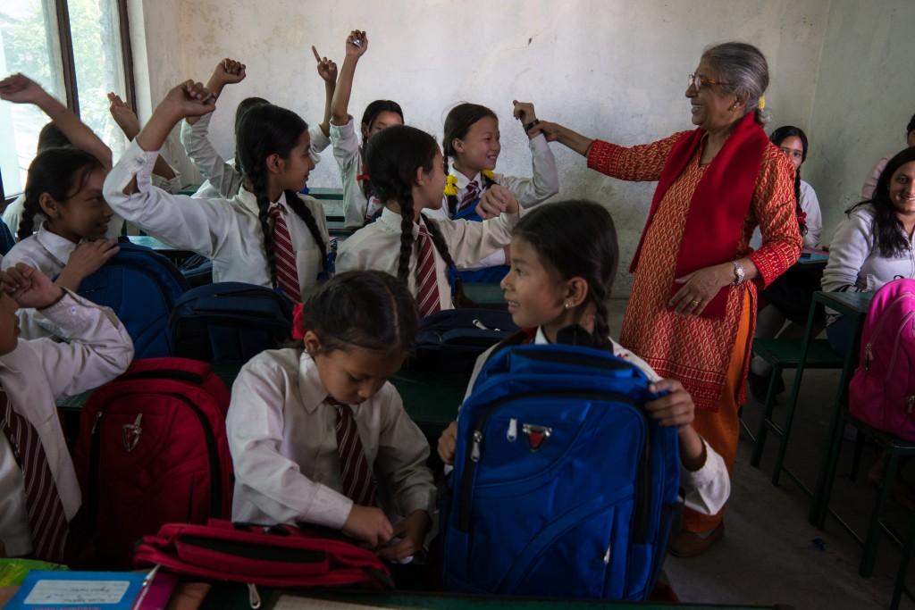 usha in classroom