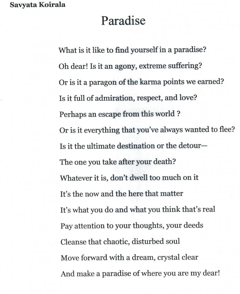 Savyata Koirala's Poem